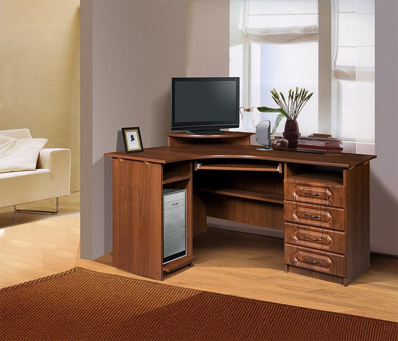 Стол компьютерный угловой сн-040.01 (фасады мдф) - salon-meb.