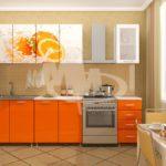 Кухня с фотопечатью Апельсин 2.0 метра