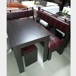 Кухонный уголок Тип 3 Феникс венге/бордо