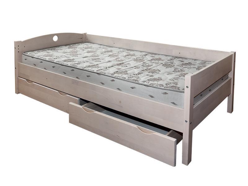 Односпальная кровать массив березы