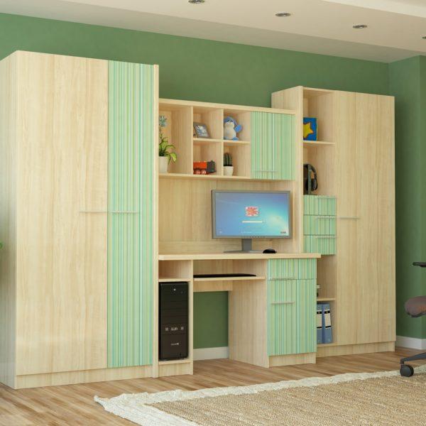 Детская комната Денди (зелёный)