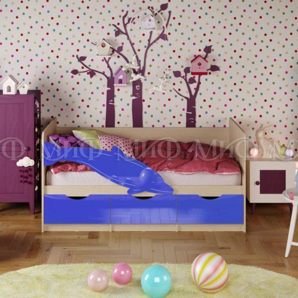 Детская кровать Дельфин-1 с бортиком безопасности