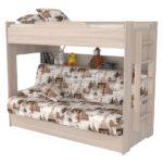 Кровать двухъярусная Прованс с диваном
