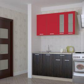 Кухня Мила 14 венге/красный