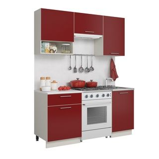 Кухня Симпл 1700 бордо