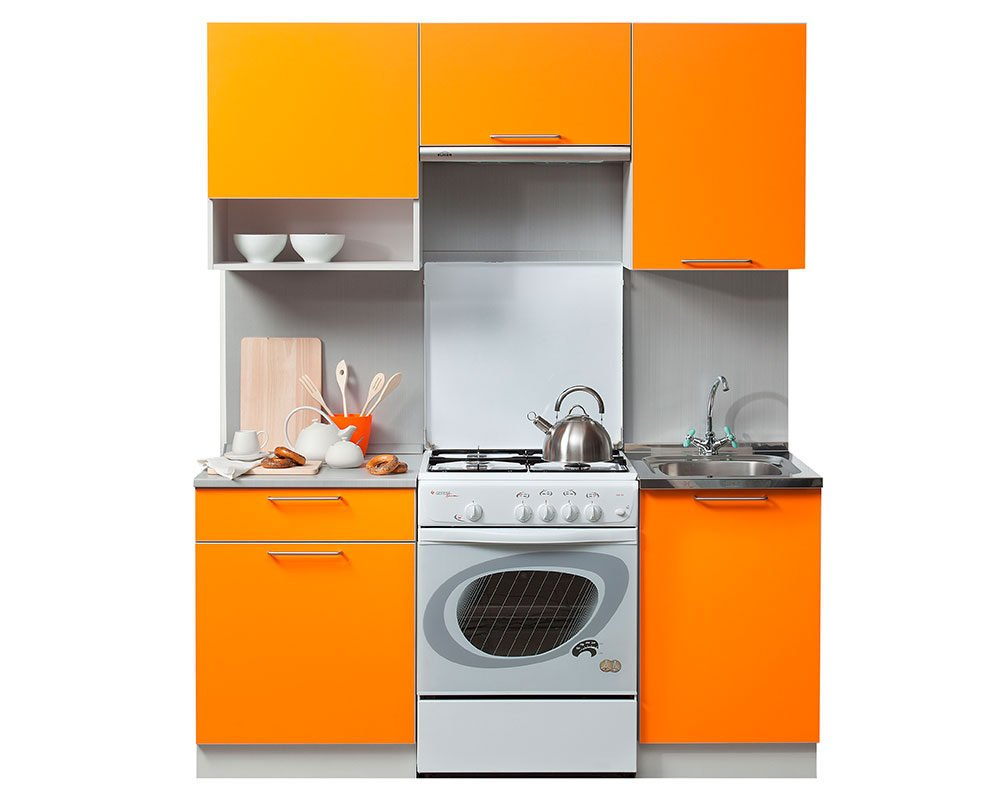 Кухня Симпл 1700 оранжевая