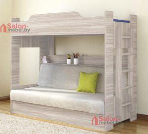 двухъярусная кровать +с диваном