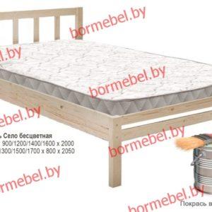 Кровать Село (Хуторянка) 90 массив для покраски