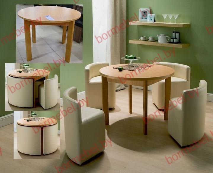 Стол обеденный круглый цвет бук