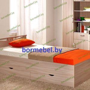 Односпальная кровать Мелисса 900 с ящиками